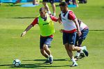 Getafe's Mauro Arambarri (l) and Bruno Gonzalez during training session. September 12,2017.(ALTERPHOTOS/Acero)
