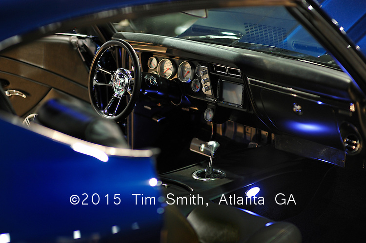 January 17, 2009  Atlanta, Ga, USA....This late 1960's Chevelle coupe in dark blue was displayed at the World of Wheels auto show in Atlanta.