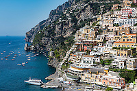 The charming coastal resort village of Positano, Amalfi Coast, Italy