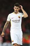 Diego Perotti of AS Roma during the Champions League Semi Final 1st Leg match at Anfield Stadium, Liverpool. Picture date: 24th April 2018. Picture credit should read: Simon Bellis/Sportimage