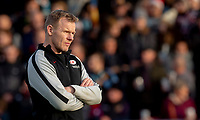 Saracens' Head Coach Mark McCall<br /> <br /> Photographer Bob Bradford/CameraSport<br /> <br /> Gallagher Premiership Round 10 - Exeter Chiefs v Saracens - Saturday 22nd December 2018 - Sandy Park - Exeter<br /> <br /> World Copyright © 2018 CameraSport. All rights reserved. 43 Linden Ave. Countesthorpe. Leicester. England. LE8 5PG - Tel: +44 (0) 116 277 4147 - admin@camerasport.com - www.camerasport.com