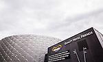 Solna 2015-07-12 Fotboll Allsvenskan AIK - GIF Sundsvall :  <br /> Fasad p&aring; Friends Arena inf&ouml;r matchen mellan AIK och GIF Sundsvall <br /> (Foto: Kenta J&ouml;nsson) Nyckelord:  AIK Gnaget Friends Arena Allsvenskan GIF Sundsvall Giffarna utomhus exteri&ouml;r exterior