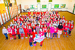 Glow Hearts 4 Crumlin -  Presentation primary School supporting the wear Red in aid of Crumlin on Thursday