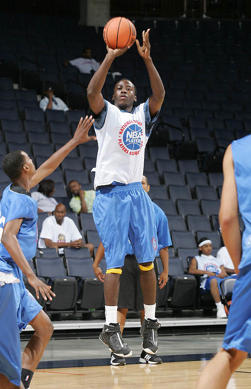 WF Teondre Williams (Norcross, GA / Meadowcreek) shoots the ball during the NBA Top 100 Camp held Saturday June 23, 2007 at the John Paul Jones arena in Charlottesville, Va. (Photo/Andrew Shurtleff)