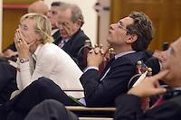 """Roma, 24 Settembre 2012.Convegno su """"Le riforme strutturali in Italia"""" oraganizzato dal Governo e dall'Ocse Organizzazione per la cooperazione e lo sviluppo economico, che  presenta il dossier sulle riforme avviate  dal Governo Monti..Il vice Ministro al Lavoro Michel Martone al convegno"""