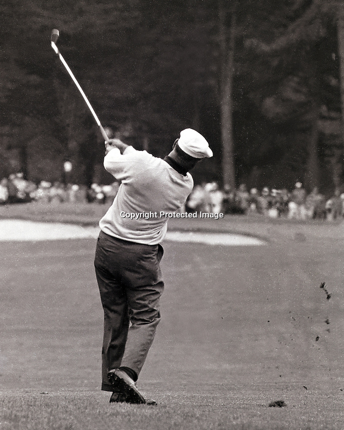 Ben Hogan during the U.S.Open at the Olympic Club in San Francisco (photo copyright 1966 Ron Riesterer)