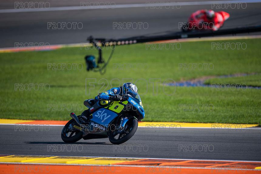 VALENCIA, SPAIN - NOVEMBER 8: Nicolo Bulega during Valencia MotoGP 2015 at Ricardo Tormo Circuit on November 8, 2015 in Valencia, Spain
