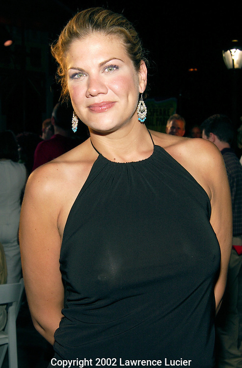 NEW YORK - JULY 17:  Actress Kristen Johnston arrives at the post-performance reception for the 2002 Joseph Papp Public Theater/New York Shakespeare Festival Benefit July 17, 2002, at Castle Belvedere in Central Park in New York City.  The benefit featured a performance of Shakespeare's Twelfth Night.