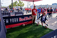 Harrison, NJ - Friday Sept. 01, 2017: NY Red Bulls, fans prior to a 2017 FIFA World Cup Qualifier between the United States (USA) and Costa Rica (CRC) at Red Bull Arena.