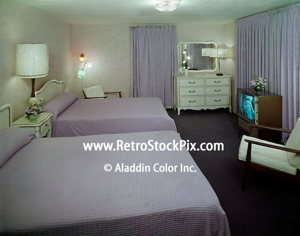 El Ray Motel, Wildwood, NJ. 1960's Motel Room