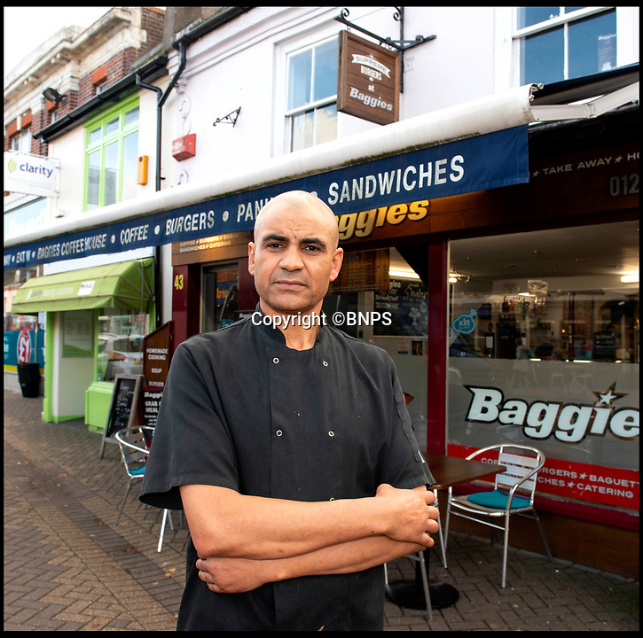 BNPS.co.uk (01202 558833)<br /> Pic:  RogerArbon/BNPS<br /> <br /> Mike Ismail outside Baggies on the High Street.<br /> <br /> A retirement town that is overspilling with coffee shops is to get its 15th after officials lost their bid to put a lid on them.<br /> <br /> Councillors in Christchurch, Dorset, refused a Coffee#1 permission to take over an empty shop because the town had too many cafes.<br /> <br /> But the national chain appealed the decision and have won their case.<br /> <br /> It means there will now be 15 coffee shops in a 500 metre stretch of the High Street - or one every 33 metres.