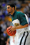 12 December 2010: University of Vermont Catamount forward Luke Apfeld (2), a Freshman from Wolfeboro, NH, warms up prior to action against the Marist College Red Foxes at Patrick Gymnasium in Burlington, Vermont. The Catamounts (7-2) defeated the Red Foxes  75-67 notching their 7th win of the season, and their best start since the '63-'64 season. Mandatory Credit: Ed Wolfstein Photo
