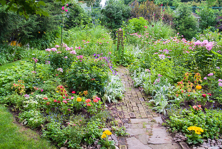 Flower Garden Path garden paths stock photos - images | plant & flower stock