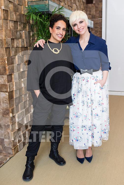Israelian musician Noa and Spanish singer Pasion Vega attend in Madrid, Spain. March 28, 2017. (ALTERPHOTOS / Rodrigo Jimenez)
