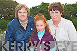 ENJOYING: Angela Nagle with Lorraine and Bride Kenny enjoying the Pattern day Mass at our Lady's Well in Ballyheigue on Monday.   Copyright Kerry's Eye 2008