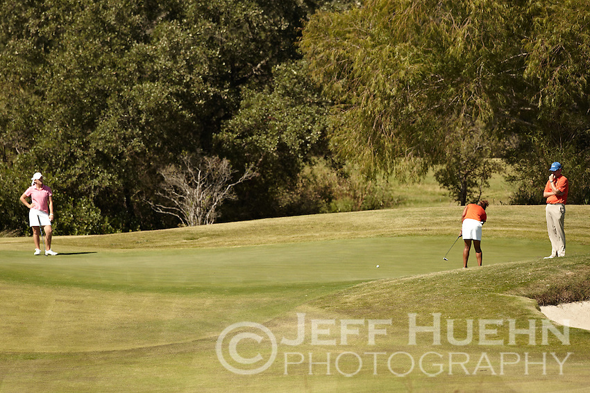 SAN ANTONIO, TX - OCTOBER 31, 2010: The University of Texas at San Antonio Roadrunners host the Alamo Invitational Golf Tournament at the Briggs Ranch Golf Club. (Photo by Jeff Huehn)