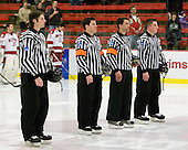 Landon Bathe, Dean Gilbert, Jean-Yves Roy, Stephen Drain - The Harvard University Crimson defeated the St. Lawrence University Saints 4-3 on senior night Saturday, February 26, 2011, at Bright Hockey Center in Cambridge, Massachusetts.