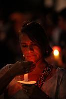 Jornalista C&eacute;lia Pinho<br />Prociss&atilde;o em homenagem a Nossa Senhora de Fatima percorre as ruas da capital paraense.<br />Belem, Para, Brasil