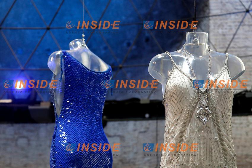 Enrico Coveri e Roberto Cavalli<br /> Roma 03-04-2016 Terme di Diocleziano. Mostra 'In Acqua: H2O molecole di creativita'. Decine di stilisti hanno creato, per l'occasione, abiti, accessori e gioielli che richiamano l'acqua.<br /> Diocleziano Thermae. Exhibition 'In water: H2O molecules of creativity'.Tens of famous stylists created dresses, accessories and jewels that recall water.<br /> Photo Samantha Zucchi Insidefoto
