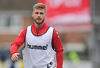 Fleetwood Town's Conor McAleny during the pre-match warm-up <br /> <br /> Photographer Kevin Barnes/CameraSport<br /> <br /> The EFL Sky Bet Championship - Fleetwood Town v AFC Wimbledon - Saturday 10th August 2019 - Highbury Stadium - Fleetwood<br /> <br /> World Copyright © 2019 CameraSport. All rights reserved. 43 Linden Ave. Countesthorpe. Leicester. England. LE8 5PG - Tel: +44 (0) 116 277 4147 - admin@camerasport.com - www.camerasport.com