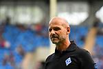 05.08.2019, Carl-Benz-Stadion, Mannheim, GER, 3. Liga, SV Waldhof Mannheim vs. TSV 1860 Muenchen, <br /> <br /> DFL REGULATIONS PROHIBIT ANY USE OF PHOTOGRAPHS AS IMAGE SEQUENCES AND/OR QUASI-VIDEO.<br /> <br /> im Bild: Bernhard Trares (Trainer SV Waldhof Mannheim)<br /> <br /> Foto © nordphoto / Fabisch