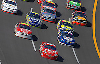 Apr 29, 2007; Talladega, AL, USA; Nascar Nextel Cup Series driver Dale Earnhardt Jr (8) leads the field during the Aarons 499 at Talladega Superspeedway. Mandatory Credit: Mark J. Rebilas