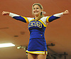 Hannah Cornfield of East Meadow performs during the varsity segment of the Freeport Devil Winter Cheerleading Competition at Freeport High School on Sat, Dec. 16, 2017.