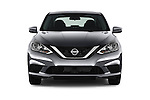 Car photography straight front view of a 2017 Nissan Sentra SV 4 Door Sedan Front View