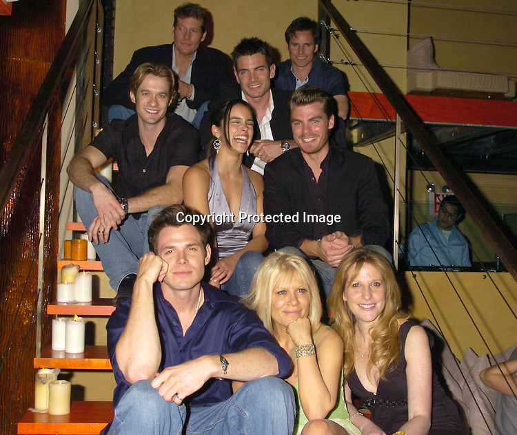 Group Shot of Soap Stars with Marcia Tovsky..at Marcia Tovsky's Pre Emmy Party on May 18, 2005 at ..Neogaea. ..Photo by Robin Platzer, Twin Images