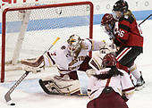Katie Burt (BC - 33), Caroline Ross (BC - 25), Ainsley MacMillan (NU - 66) - The Boston College Eagles defeated the Northeastern University Huskies 2-1 to win the Beanpot on Monday, February 7, 2017, at Matthews Arena in Boston, Massachusetts.