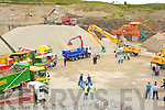 An aerial view at the Sandvik machinery display in Quirkes Quarry Killarney on Saturday