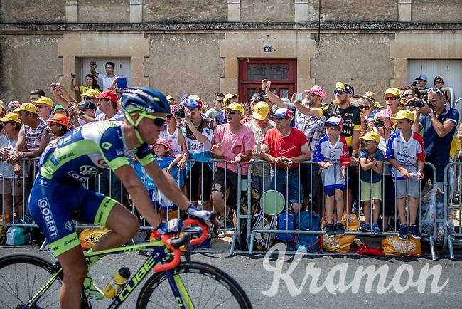 enthusiastic crowds at the finish in Fontenay-le-Comte<br /> <br /> Stage 1: Noirmoutier-en-l'Île > Fontenay-le-Comte (189km)<br /> <br /> Le Grand Départ 2018<br /> 105th Tour de France 2018<br /> ©kramon
