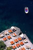 "Europe/Italie/Côte Amalfitaine/Campagnie/Positano : Hôtel ""San Pietro"" et la plage"