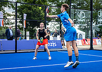 Rosmalen, Netherlands, 15 June, 2019, Tennis, Libema Open, NK Final Padel Mixed: Milou Ettekhoven (NED) and Victor Rutten (NED) <br /> Photo: Henk Koster/tennisimages.com