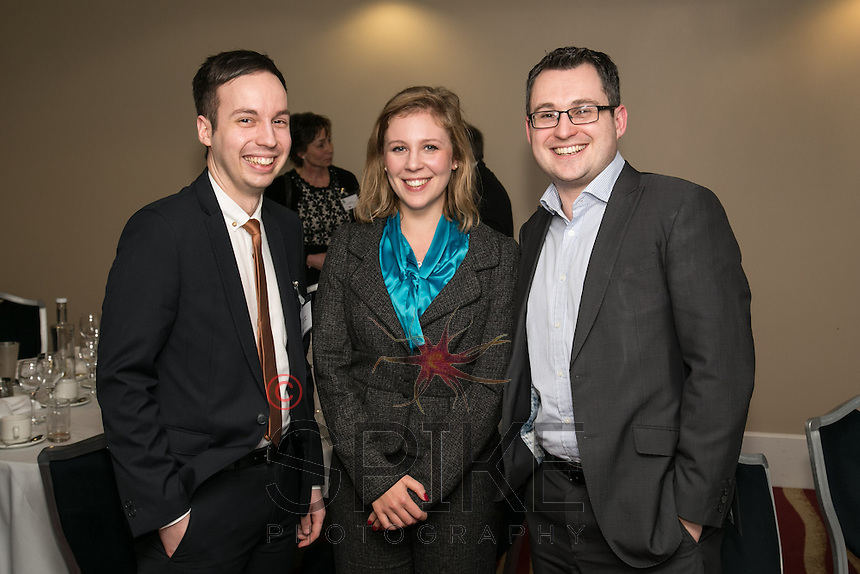 All smiles for Actons -from left are Adam Cotterill, Louise Benski and Nic Elliott