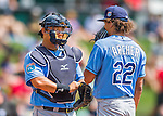 14 March 2016: Tampa Bay Rays catcher Hank Conger has a chat with pitcher Chris Archer during a pre-season Spring Training game against the Atlanta Braves at Champion Stadium in the ESPN Wide World of Sports Complex in Kissimmee, Florida. The Ray fell to the Braves 5-0 in Grapefruit League play. Mandatory Credit: Ed Wolfstein Photo *** RAW (NEF) Image File Available ***