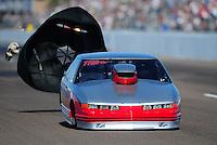 Feb. 18, 2012; Chandler, AZ, USA; NHRA top sportsman driver XXXX during qualifying for the Arizona Nationals at Firebird International Raceway. Mandatory Credit: Mark J. Rebilas-