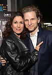 Stephanie J. Block and husband Sebastian Arcelus attend 'Best Worst Thing That Ever Could Have Happened' broadway screening at SAG-AFTRA on November 13, 2016 in New York City.