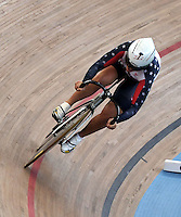 CALI – COLOMBIA – 01-03-2014: Sara Hammer de Estados Unidos durante la prueba de Vuelta Lanzada del Omnium Damas en el Velodromo Alcides Nieto Patiño, sede del Campeonato Mundial UCI de Ciclismo Pista 2014. / Sara Hammer of United States during the test of the Women´s Omnium Flying Lap at the Alcides Nieto Patiño Velodrome, home of the 2014 UCI Track Cycling World Championships. Photos: VizzorImage / Luis Ramirez / Staff.