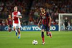 UEFA Champions League 2013/2014.<br /> FC Barcelona vs AFC Ajax: 4-0 - Game: 1.<br /> Neymar Jr vs De Jong.