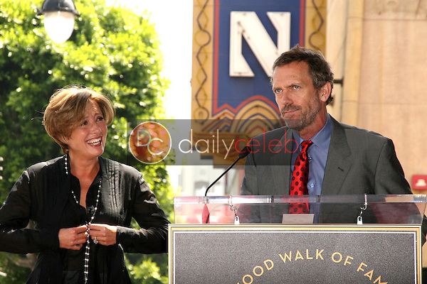 Emma Thompson, Hugh Laurie<br /> at the induction ceremony for Emma Thompson into the Hollywood Walk of Fame, Hollywood, CA. 08-06-10<br /> David Edwards/DailyCeleb.com 818-249-4998