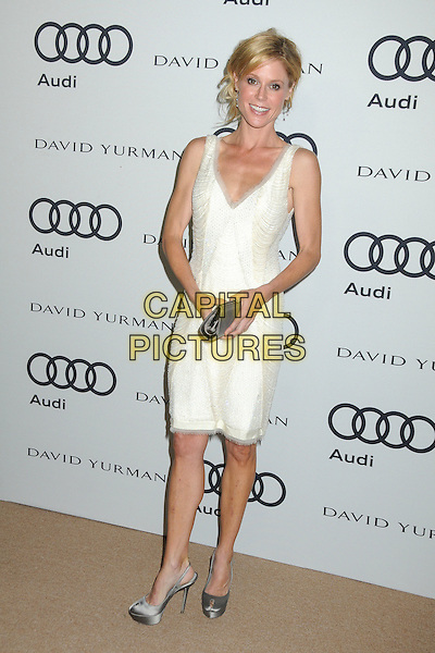 Julie Bowen.Audi and David Yurman Emmy Week 2011 Kick Off Party held at Cecconi's, West Hollywood, California, USA..September 11th, 2011.full length dress sleeveless silver shoes clutch bag white.CAP/ADM/BP.©Byron Purvis/AdMedia/Capital Pictures.