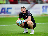 Lincoln City's Grant Smith during the pre-match warm-up<br /> <br /> Photographer Andrew Vaughan/CameraSport<br /> <br /> The EFL Sky Bet League One - Lincoln City v Fleetwood Town - Saturday 31st August 2019 - Sincil Bank - Lincoln<br /> <br /> World Copyright © 2019 CameraSport. All rights reserved. 43 Linden Ave. Countesthorpe. Leicester. England. LE8 5PG - Tel: +44 (0) 116 277 4147 - admin@camerasport.com - www.camerasport.com