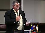 Nevada Sen. Pete Goicoechea, R-Eureka, speaks on the Senate floor at the Legislative Building in Carson City, Nev., on Tuesday, March 12, 2013..Photo by Cathleen Allison
