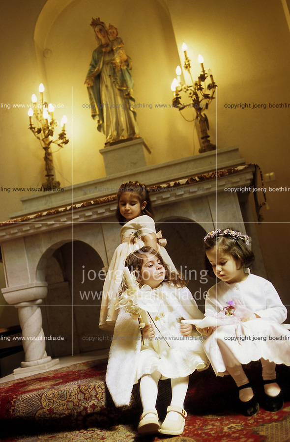 SYRIEN Aleppo, christlicher Gottesdienst in Kathedrale / SYRIA Aleppo christian mass in cathedral