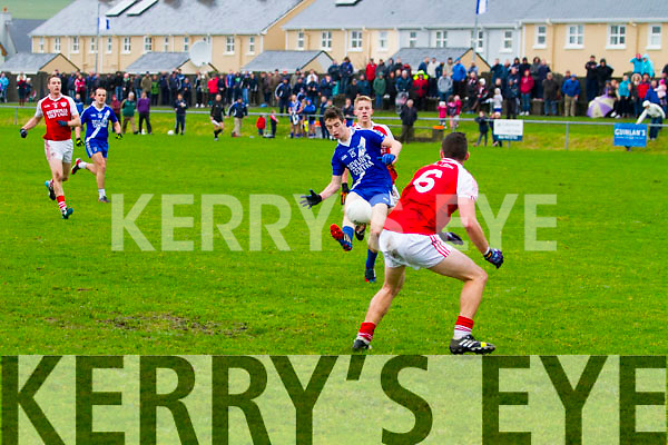 The final blow - St Mary's Anthony Cournane scores the final point in the 2014 South Kerry Final Replay in the Con Keating Park Cahersiveen on Saturday.