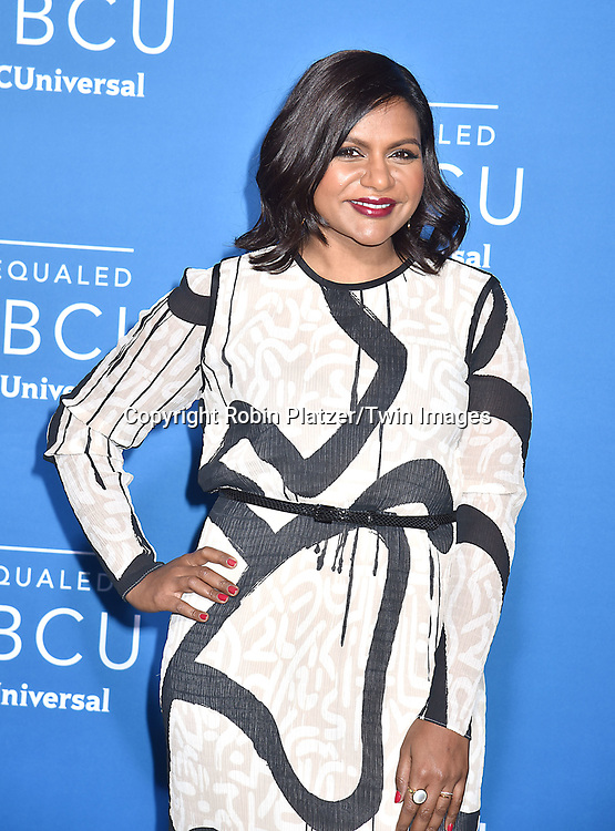 Mindy Kaling attends the NBCUNIVERSAL 2017 UPFRONT on May 15, 2017 at Radio City Music Hall in New York, New York, USA.<br /> <br /> photo by Robin Platzer/Twin Images<br />  <br /> phone number 212-935-0770