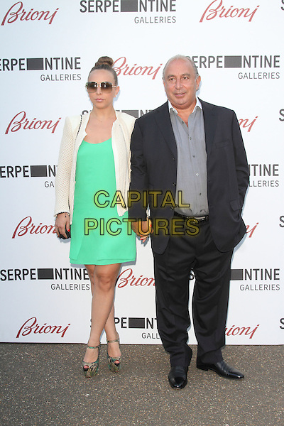LONDON, UNITED KINGDOM - JULY 01:  Chloe Green and Sir Philip Green attends the annual Serpentine Gallery Summer Party at The Serpentine Gallery on July 1, 2014 in London, England<br /> CAP/ROS<br /> &copy;Steve Ross/Capital Pictures