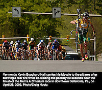 Kevin Bouchard-Hall during criterium race in Bellefonte, Pa. Photo/Craig Houtz