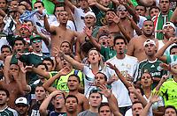 SAO PAULO SP, 20  MARCO 2013 - Paulistao 2013 - PALMEIRAS X SANTOS -  TORCIDA   - Torcedores do Palmeiras em jogo contra o Santos durante partida valida pelo campeonato paulista de 2013 no Estadio do Pacaembu em Sao Paulo, neste sabado , 24. (FOTO: ALAN MORICI / BRAZIL PHOTO PRESS).